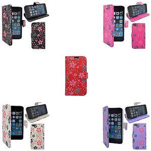 Apple-iPhone-5-5S-diverses-couleurs-fleur-tourbillon-Motif-a-paillettes-etui