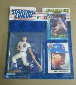 1993 MLB Ryne Sandberg Chicago Cubs Starting Lineup SLU Figure & 2 Cards