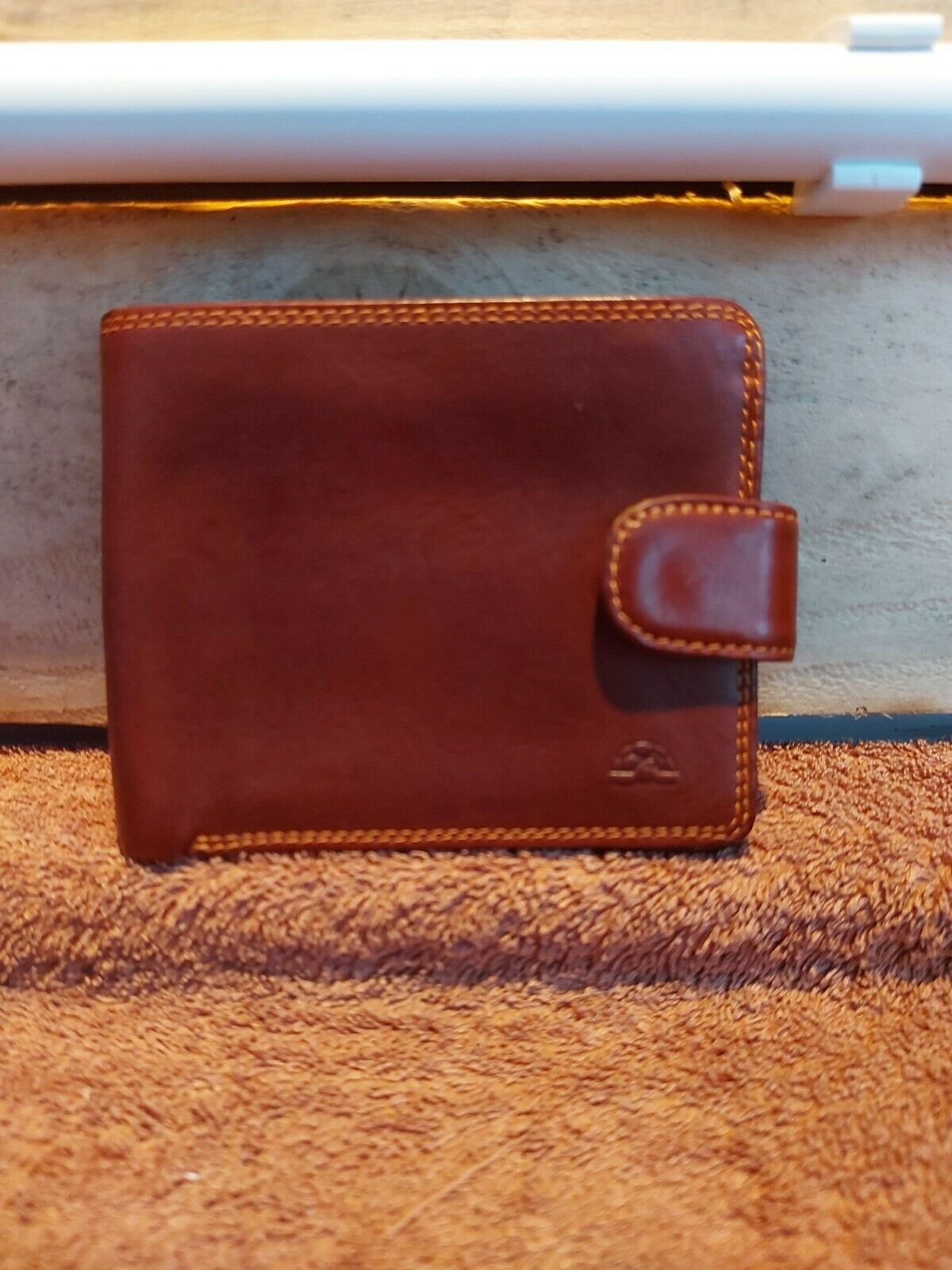 Leather Wallet With Coin Pocket Tony Perotti Italian Leather Brown