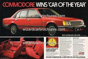 1978 HOLDEN VB COMMODORE SL/E A3 POSTER AD SALES BROCHURE ADVERTISEMENT ADVERT
