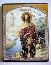 Icon of Saint John the Baptist wood board икона пророк иоанн креститель освящена