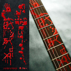 Fret Marker Inlay Sticker For Guitar - Bloody Line Splatter Dripping Blood Print