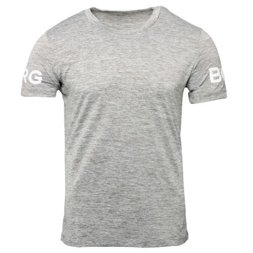 Björn Borg Tee Short Sleeve Shirt Sport Freizeit T-Shirt grey 1931-1200/_90601