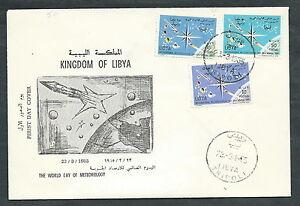 PréCis 1965 Libia Fdc Giornata Meteorologica No Timbro Arrivo - F