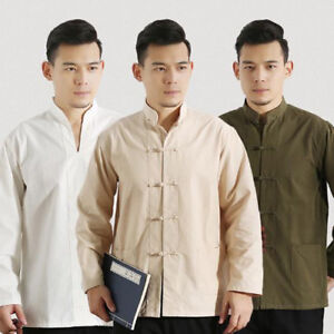 02ea0d6038 Men s Cotton Traditional Chinese Tang Suit Coat clothing Kung Fu Tai ...
