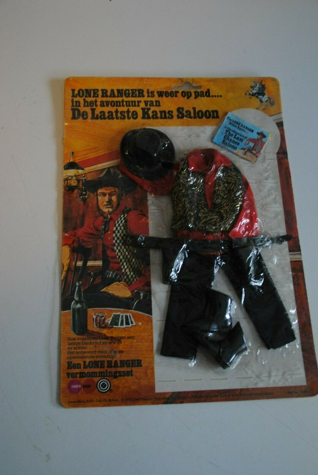 THE LONE RANGER RIDES AGAIN MARX GABRIEL   THE LAST CHANGE SALOON     OUTFIT MOC