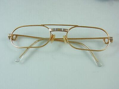 Realistisch Cartier Santos Brille Brillenfassung Sonnenbrille Vergoldet 140 Mm