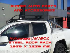 Fully-Enclosed-Deluxe-Steel-Roof-Rack-1350mm-4-Volkswagen-Amarok-2010-18-DualCab