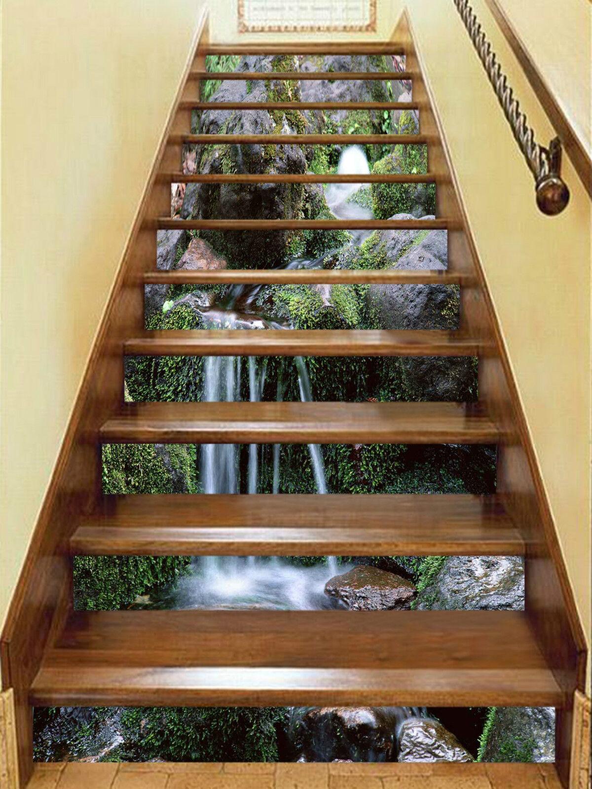 3d eau BACH 332 Stair Risers Décoration Papier Peint Vinyle Autocollant Papier Peint De