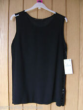 Zara Basic Black Ladies Top Side Detail Size S Small NEW RRP £25.99 (Ref Z)