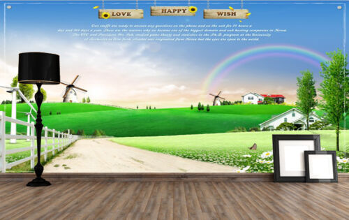 3D Green Road Distance Wall Paper Wall Print Decal Wall Deco Indoor Murals