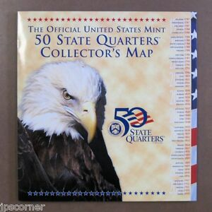 Official US Mint State Quarter Map for 50 State Quarters | eBay