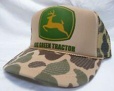 7f6ff8b70ec Big Green Tractor Trucker Hat mesh Hat Snap Back Hat camo one size fits most