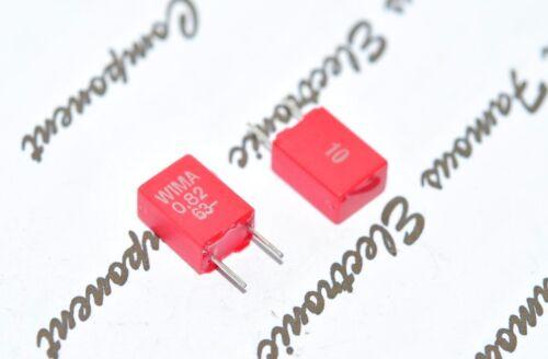 WIMA MKS2 0.82uF 0.82µF 0,82uF 820nF 10pcs 63V 10/% pich:5mm Capacitor