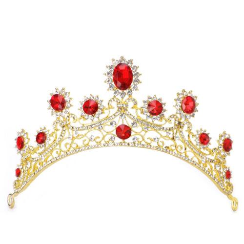Bridal Wedding Tiara Crown Veil Headband Hair Accessories Rhinestone Wedding