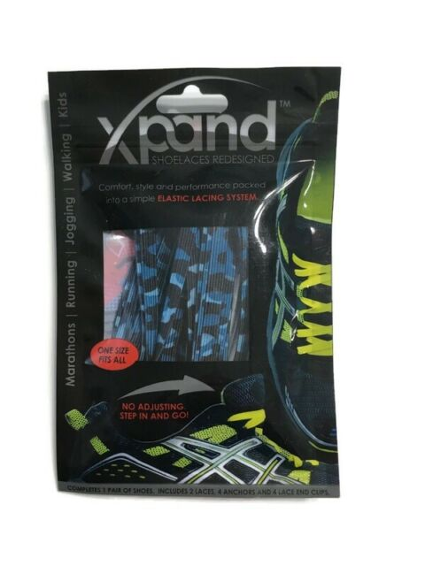 Xpand No Tie Shoelaces System with Elastic Laces One Size Fits All Adult and Kids Shoes Pack of 3