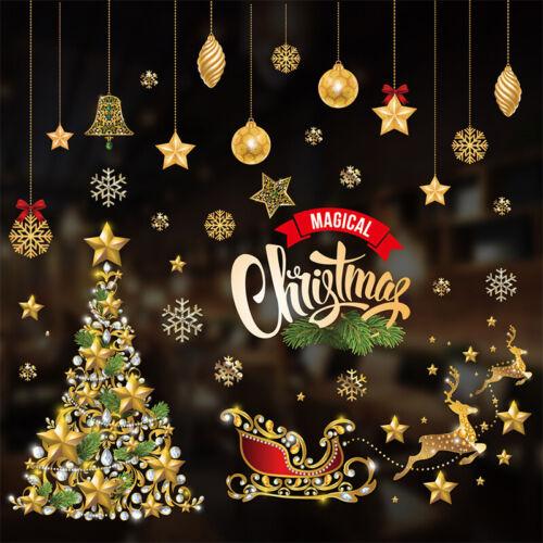 Christmas Xmas Santa Removable Window Stickers Art Decals Shop Home Wall Decor