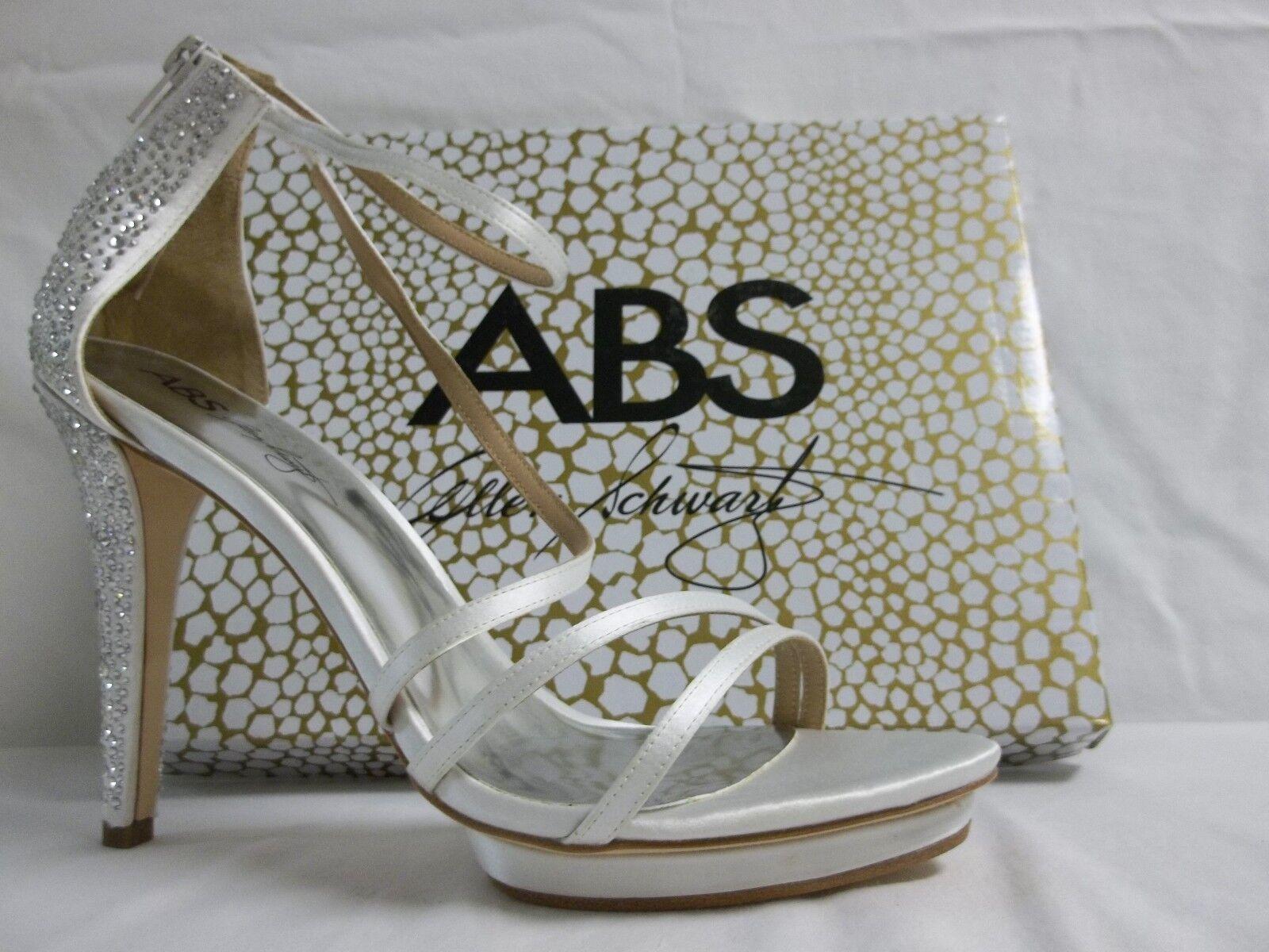 ABS By Allen Schwartz Taille 10 M All Star blanc Satin Heels New femmes chaussures