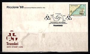 "100% Vrai Transkei Dsc S23 27.08.1988 Riccione San Marino Indes Conducteur ""grosvenor""-r ""grosvenor""fr-fr Afficher Le Titre D'origine"