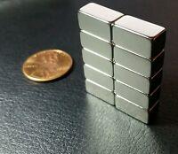 10 Neodymium Magnets N52 Grade Super Strong Rare Earth Block 1/2 X 1/4 X 1/4