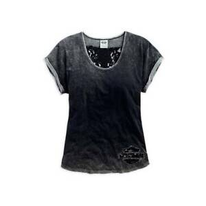 HARLEY DAVIDSON WOMENS LACE WING T-SHIRT 96071-16VW XXL  LAST ONE ... 14a54900bd