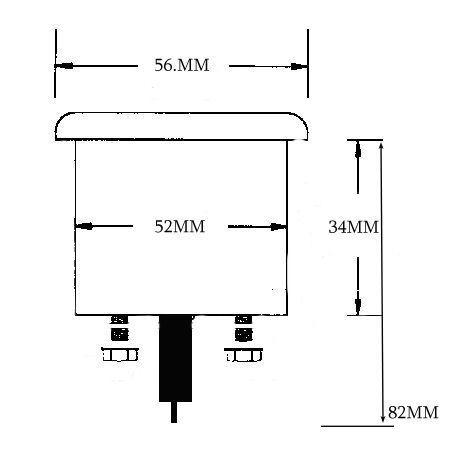 "30-0-30 AMPMETER AMP METER 12 Volt Car Boat Truck ATV Amp Meter 52MM 2/"" CHROME"