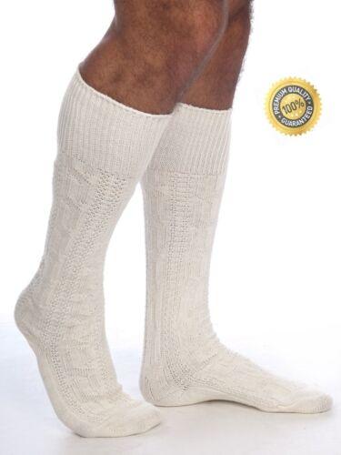Blanc homme bavarois oktoberfest chaussettes causal lederhosen chaussettes paires blanc