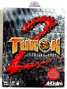 Turok-2-PC-comme-Neuf-Complet-Mint-State-Parfait-Etat-Videojuego-Videogame