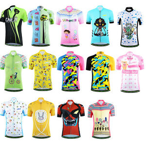 Bicycle Bike Cycling Jersey Short Sleeves Set For Kids Boys Girls ... 59d36a252