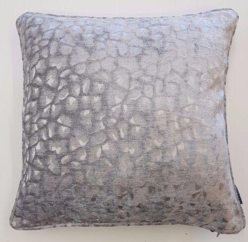 Résistante gris pâle velours peau de Crocodile Design Housse De Coussin £ 6.99 chaque