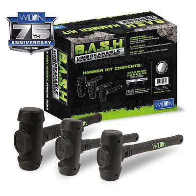 Wilton B.A.S.H Dead Blow Hammer Kit w/ Non-Slip Grip Ergonomic Handle 11113 New