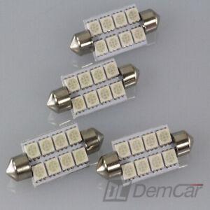 4-X-LED-Feston-Lampe-40-mm-12V-8-FACH-LED-Interieur-Signal-Couleur-Rouge