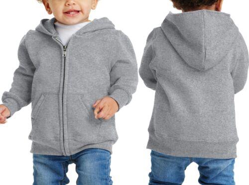 Toddler Hoodie Full Zipper Hooded Fleece Sweatshirt Winter Warm 2T 4T NEW 3T