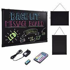 "31""X 23"" Flashing Illuminated Erasable Neon LED Message Writing Board Menu Sign"