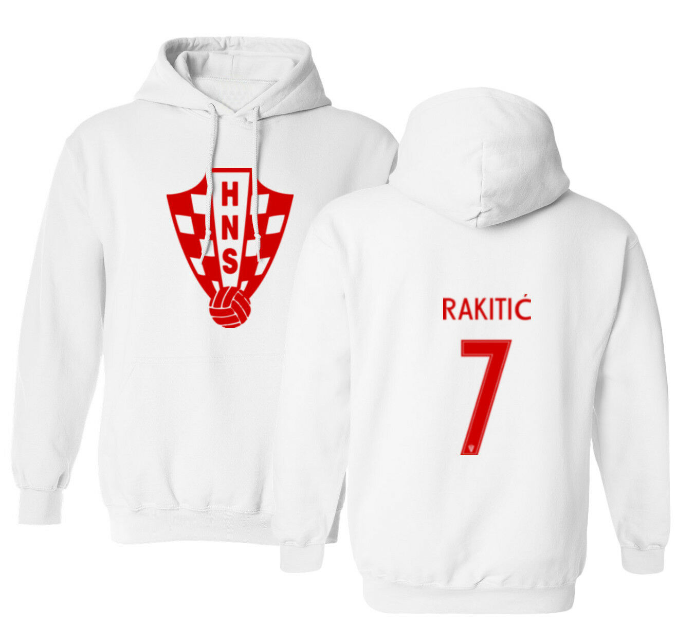 Croatia 2018 Soccer #2 VRSALJKO World Cup Men/'s Hooded Sweatshirt