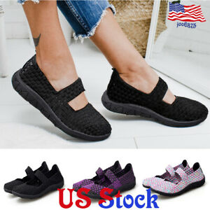 Women-039-s-Casual-Breathable-Black-Soled-Hand-woven-Shoes-Lightweight-Slip-On-Flats