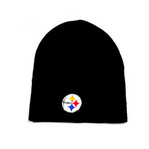 975676ca631 Image is loading PITTSBURGH-STEELERS-BEANIE-NFL-TEAM-APPAREL-ADULT-CUFFLESS-
