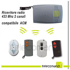 Ricevente radio ricevitore 433 Mhz 2 canali compatibile con telecomando ACM