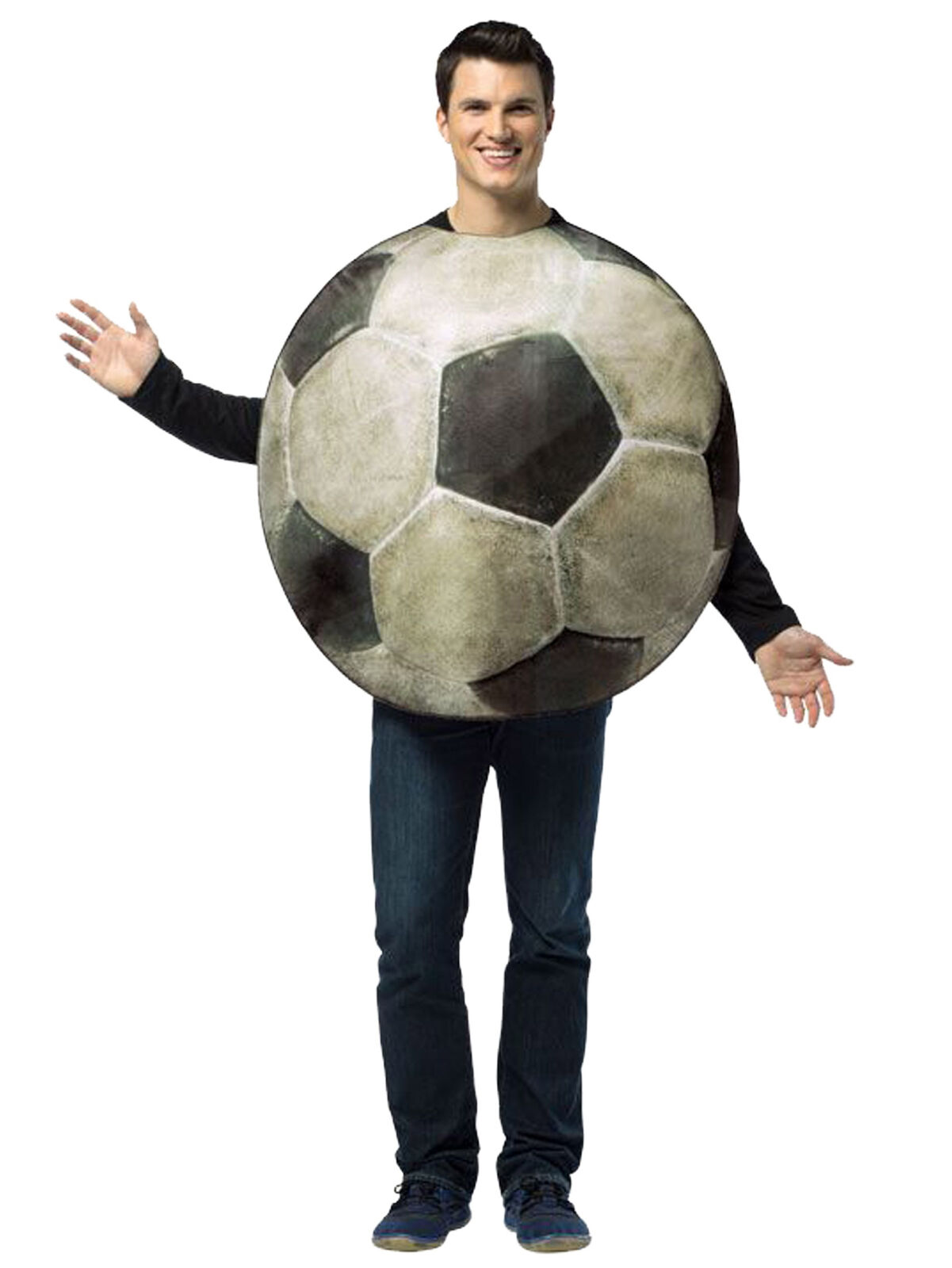 Get Real Soccer Ball Sport Funny Party Dress Up Women Men Costume