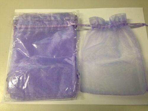 12pc MAUVE Organza Silk Bag 12.5cmx17cm FREE POSTAGE