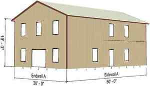 Steel metal 2 floor home shell kit 2400 sq ft barn shed for 300 square foot shed