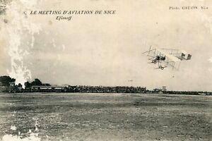 Carte-Le-Meeting-d-039-Aviation-de-NICE-Aviateur-Michel-Efinoff-sur-son-avion