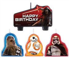 Amscan Star Wars Episode Vll Happy Birthday Candle (Set of 4)