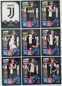 2019-20-Match-Attax-UEFA-Soccer-Cards-Juventus-Team-Set-inc-Dybala-9-cards
