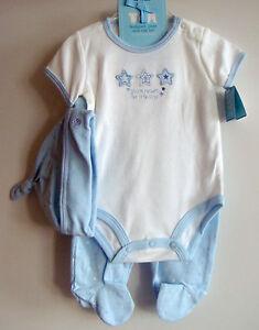 NEU niedliches Baby Erstlingsset 3 Teile 0-3 mon. Weiß/Blau - Langenhagen, Deutschland - NEU niedliches Baby Erstlingsset 3 Teile 0-3 mon. Weiß/Blau - Langenhagen, Deutschland