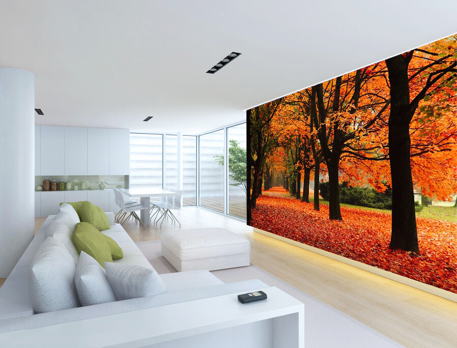 3D Deciduous Woods 723 Wall Paper wall Print Decal Wall Deco Indoor wall Mural