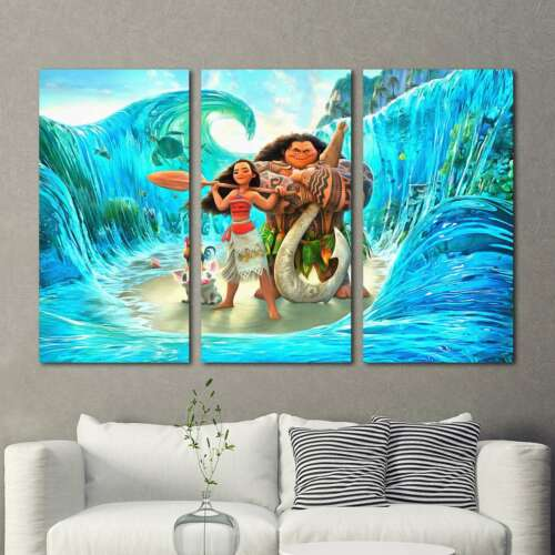 MOANA Poster Painting 3PCS HD Canvas Print Home Decor Room Wall Art Picture