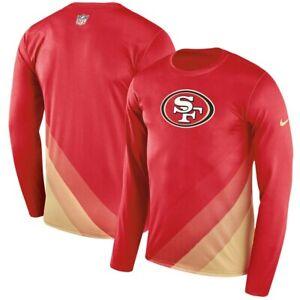 Détails sur Nike San Francisco 49ers Jeune Moyen à XL Ligne de Touche Légende Prism Neuf NFL