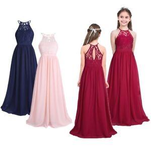 Party Wedding Bridesmaid Formal Dresses Jr Girls Princess Dress Flower For Kids