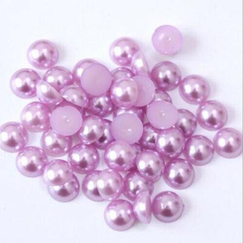 1000 pcs Polished Half Pearls  Bead Flat Back scrapbook craft 2,3,4,5,6mm #1